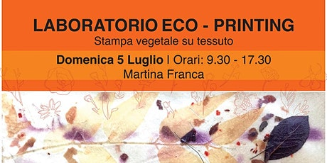 Laboratorio di Eco Printing 05.07.2020 tickets