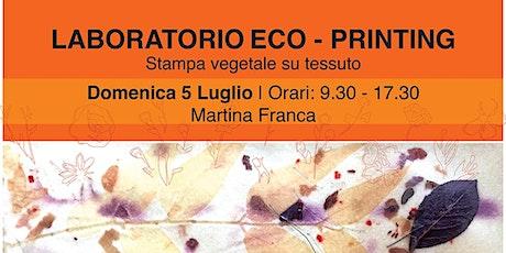 Laboratorio di Eco Printing 05.07.2020 biglietti