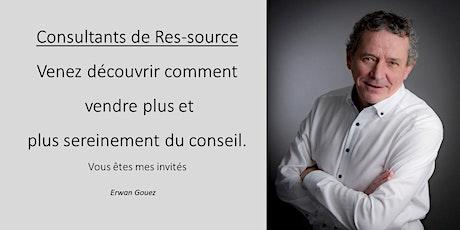 Consultants de Res-source : vendez plus et plus sereinement du conseil. billets