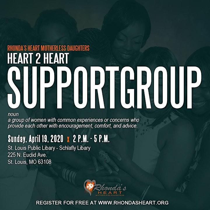 Heart 2 Heart - Rhonda's Heart Motherless Daughter Support Group image
