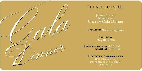 Jesus Cares Gala Dinner tickets
