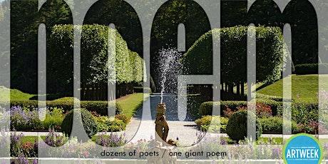 World's Largest Poem Performance: Postponed tickets