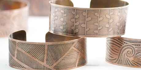 ETCHED COPPER BRACELET - May tickets