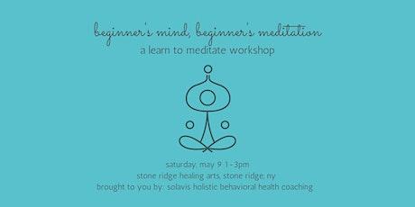 beginner's mind, beginner's mediation tickets