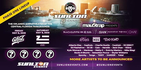 SUNLION ORLANDO (DATES NOT CONFIRMED, PLEASE CONTINUE TO CHECK FOR UPDATES) tickets