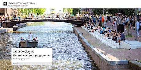 University of Amsterdam Intro-days Exchange Programme tickets