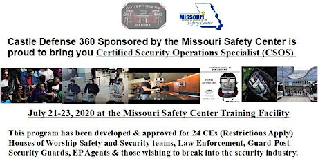 Certified Security Operations Specialist (CSOS) Missouri tickets
