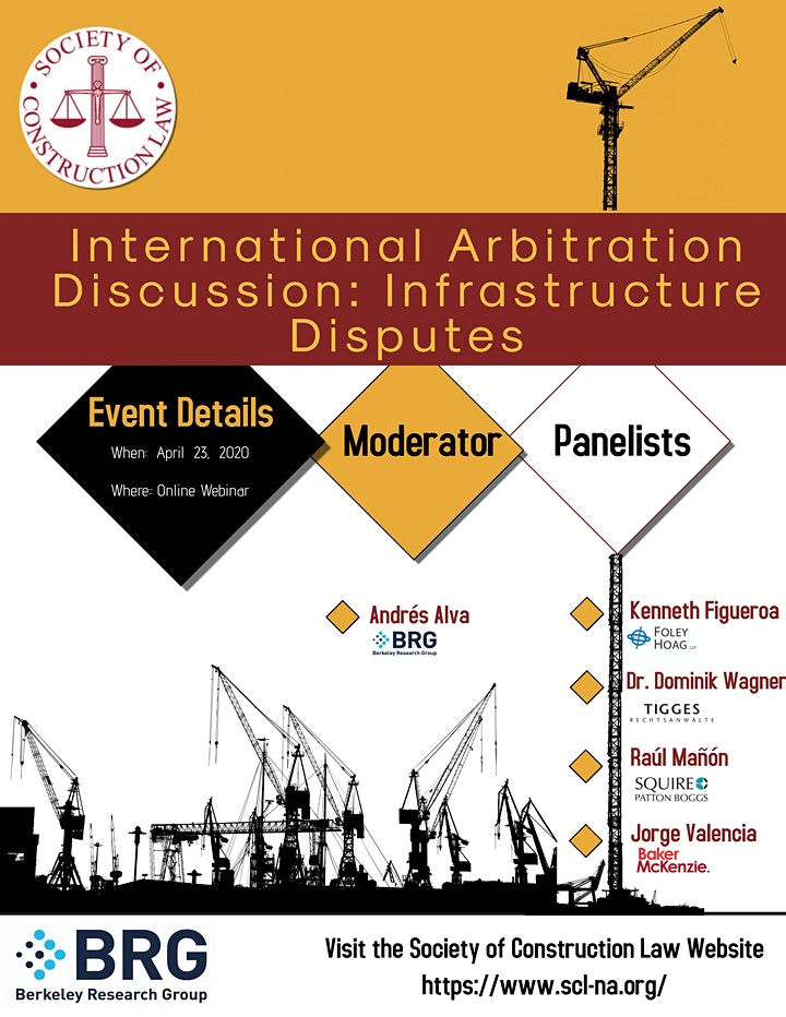 International Arbitration Discussion: Infrastructure Disputes image