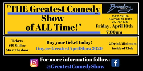 THE Greatest Comedy Show of ALL Time - The April 2020 Edition tickets