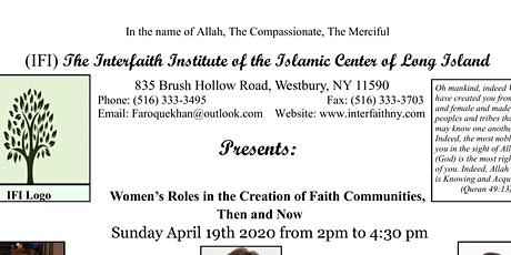 Women's Role in Creation of Faith Communities - Then and Now tickets