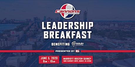 Boston Cannons Leadership Breakfast tickets