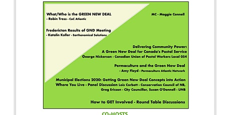 *POSTPONED UNTIL A LATER DATE* Green New Deal Workshop tickets