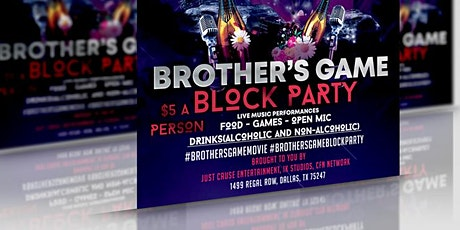 Brother's Game Block Party Vendors tickets