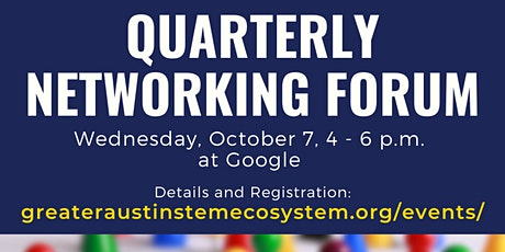 Greater Austin STEM Quarterly Networking Forum - October 7, 2020 tickets