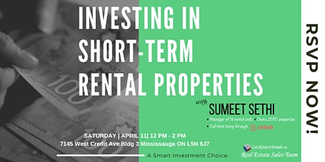 Short-Term Rental Property Investing tickets