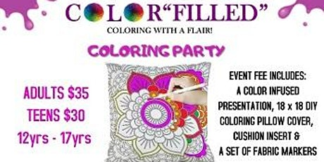 COLORFILLED COLORING WITH A FLAIR 2020 tickets