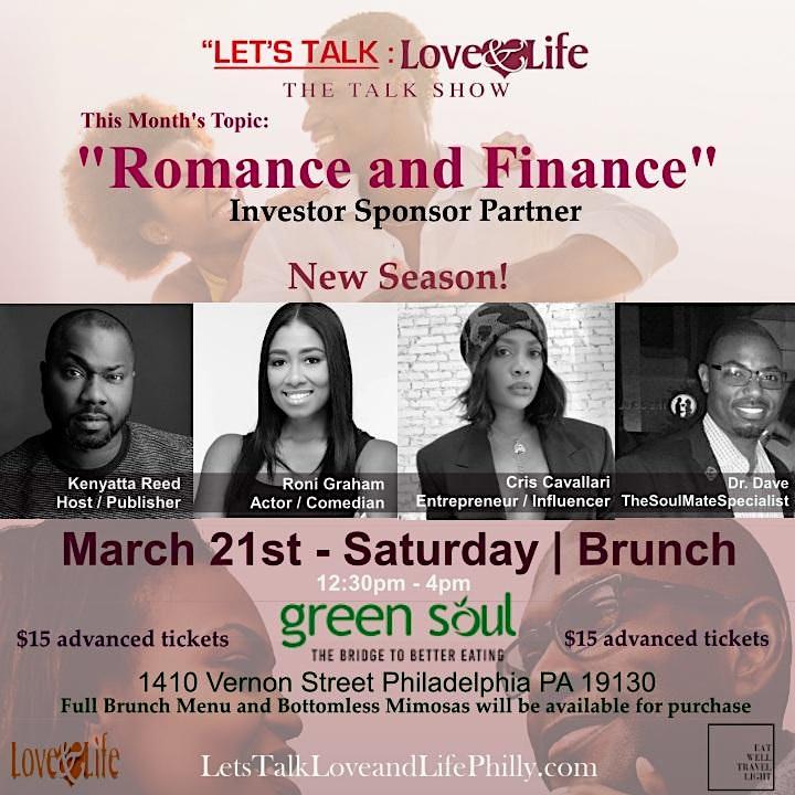 Postponed - LET'S TALK LOVE and  LIFE | Talk Show + Brunch image