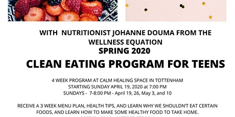 Clean Eating for Teens -  Apr 19  700 PM tickets