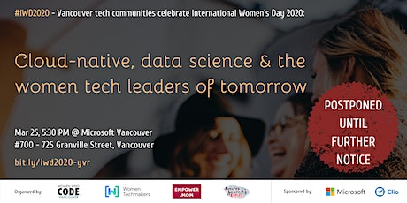 #IWD2020: Cloud-native, data science & the women tech leaders of tomorrow tickets