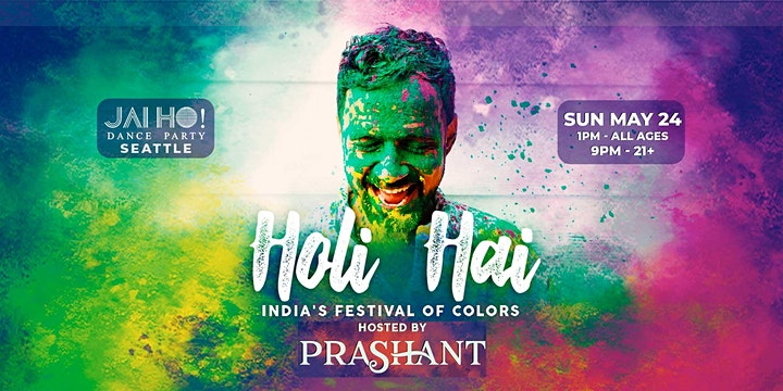 Holi Hai! All Ages Color Festival in Seattle w/ DJ Prashant image