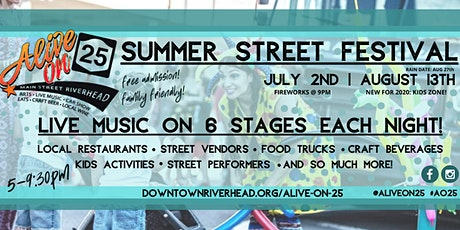 Alive on 25 - Downtown Riverhead Summer Street Festival tickets