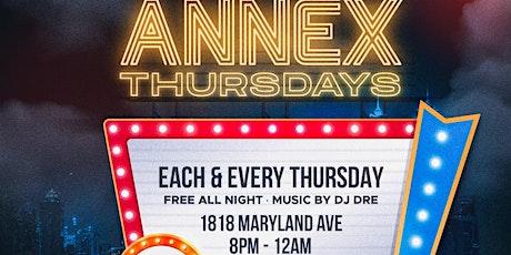 ANNEX LOUNGE THURSDAYS tickets