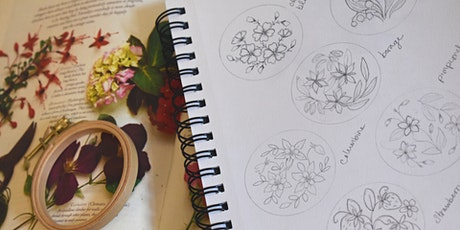 Botanical Embroidery: Design for Embroidery tickets