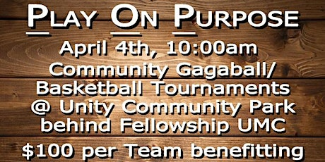 Play On Purpose Tournament Registration tickets