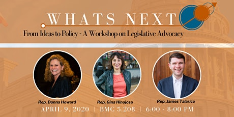 What's Next: From Ideas to Policy - A Workshop on Legislative Advocacy tickets