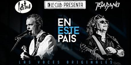 """PEDRO CASTILLO Y ALEXIS PENA  """"ADITUS Y TEMPANO CONCIERTO EN ESTE PAIS"""" tickets"""