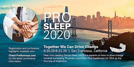 PROSLEEP2020 Users Conference tickets