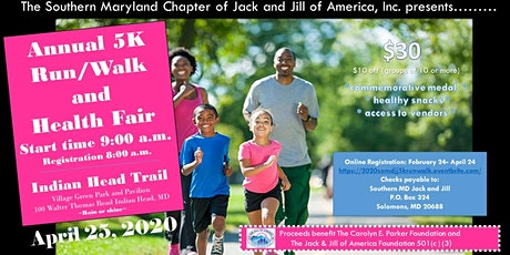 2020 SoMDJJ: 5K Run/Walk and Health Fair  tickets