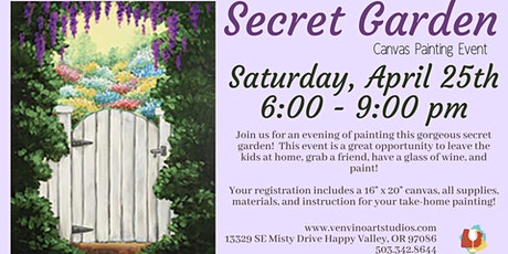 Secret Garden Canvas Painting Event tickets