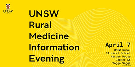 UNSW Rural Medicine Program Information Evening tickets