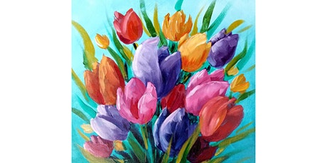 "SPECIAL MOTHER'S DAY EVENT! 5/9 - Corks and Canvas Event @ Nectar at Kendall Yards, SPOKANE Mimosa Morning ""Spring Tulips"" tickets"