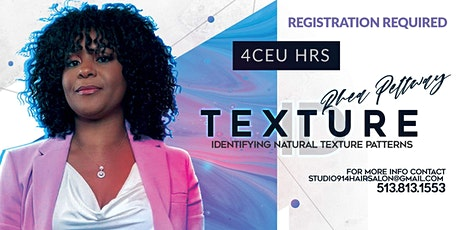 Texture I.D : Identifying Natural Hair Patterns Vi tickets