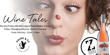 Wine Tales With Tony Modra and Anna Fisher tickets