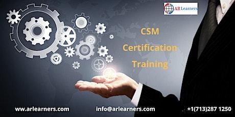 CSM Certification Training Course In Sacramento, CA,USA tickets