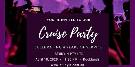 Cruise Party - Docklands - studyin.com.au tickets