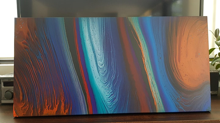 Fluid Art Experience - Galaxy 'Ring Pour' (Paint and Sip) image