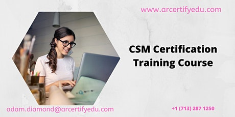 CSM Certification Training Course in Washington (Weekend), DC,USA tickets