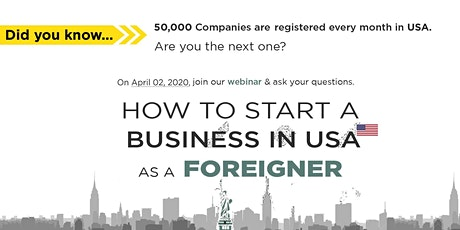 Webinar: Starting A US Company AS A Non-US Citizen Using L-1 Visa or E Visa tickets