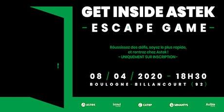 """LIVE ESCAPE GAME - """"GET INSIDE ASTEK!"""" - Inscrivez-vous ! billets"""