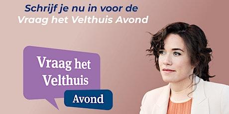 Vraag het Velthuis avond Amsterdam tickets