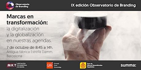 IX edición Observatorio de Branding Barcelona entradas