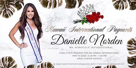 Support Ms. Honolulu Danielle Norden tickets
