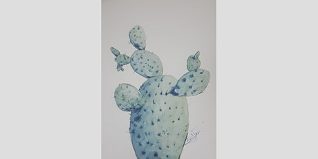 Learn how to paint a Cactus in watercolor with Mathieu Hébert tickets