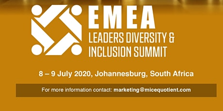 EMEA Leaders Diversity and Inclusion Summit (Virtually Driven) tickets