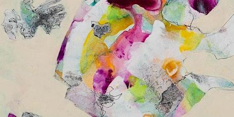Maak je eigen schilderij met collage tickets