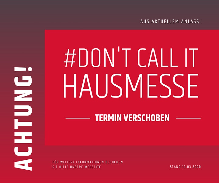 #Don't call it Hausmesse: Bild